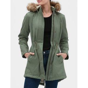 💋💋💋Gap Sherpa lined coat